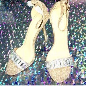 NEW Wild diva high heels rhinestone glitter